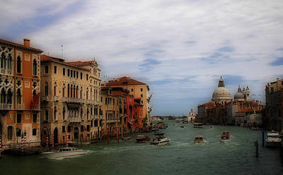 Photograph - Venice Grand Canal 7 by Andrew Fare