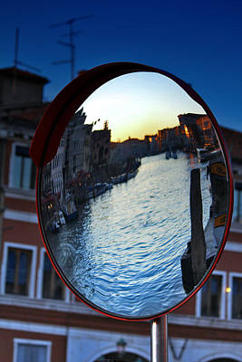 Venise Photograph - Venice Grand Canal Mirrored by Cedric Darrigrand