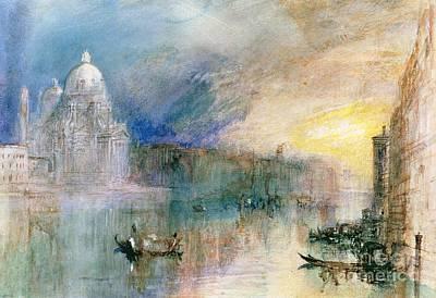 Joseph Mallord William Turner Painting - Venice Grand Canal With Santa Maria Della Salute by Joseph Mallord William Turner