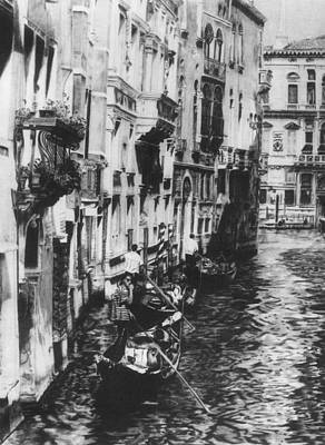 Venice In Black And White Art Print by Nancy Slater