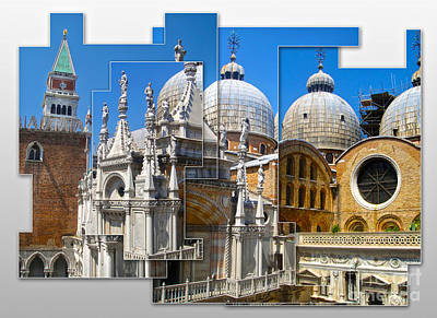Venice Italy - Cathedral Basilica Of Saint Mark Art Print by Gregory Dyer