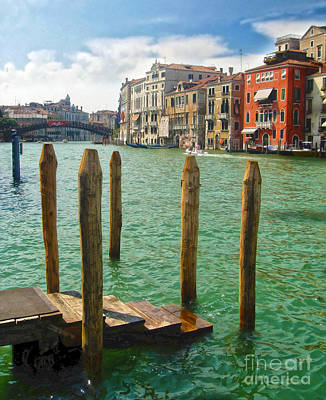Venice Italy - Grand Canal View Art Print by Gregory Dyer