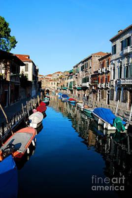 Digital Art - Venice Italy Canal Scence by Eva Kaufman