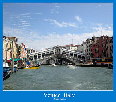 Photograph - Venice Italy Rialto Bridge Grand Canal by John Shiron