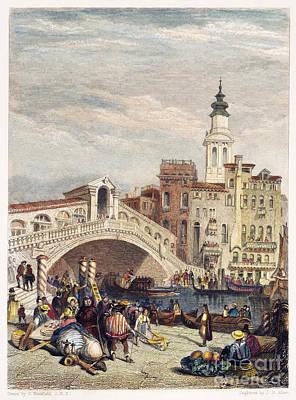 Venice: Rialto, 1833 Art Print by Granger