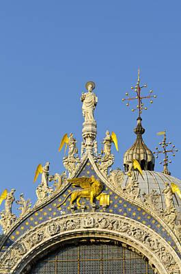 Lion Of St Mark Photograph - Venice, St Mark's Basilica by Alan Copson