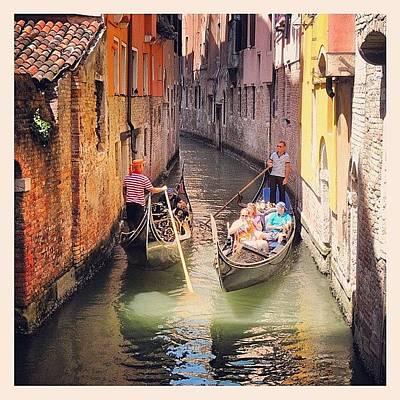 Still Life Photograph - Venice Traffic Jam by Chi ha paura del buio NextSolarStorm Project