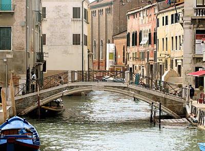 Venice Venezia Venetian Bridge Art Print