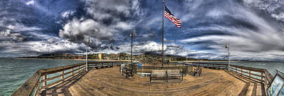 Photograph - Ventura Pier Hdr Panorama by Joe  Palermo