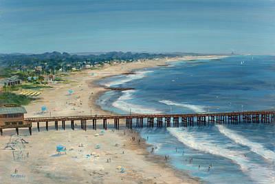 Ventura Pier Summer Time Art Print by Tina Obrien