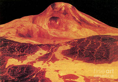 Venus Surface Photograph - Venus, Lava Flow From Maat Mons by Science Source