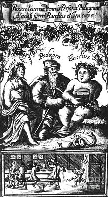 Venus, Podagra And Bacchus, 1687 Art Print by Science Source
