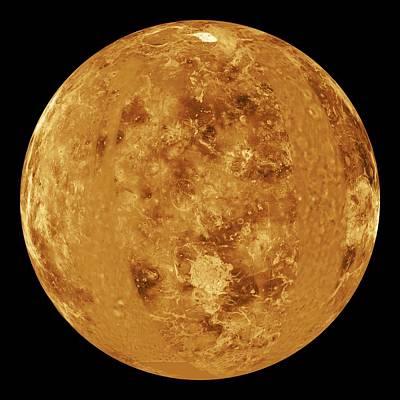 Magellan Probe Photograph - Venus, Radar Map by Jplnasa