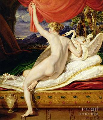 Swan Painting - Venus Rising From Her Couch by James Ward