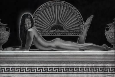 Pencil Drawing Drawing - Venus by Tim Dangaran