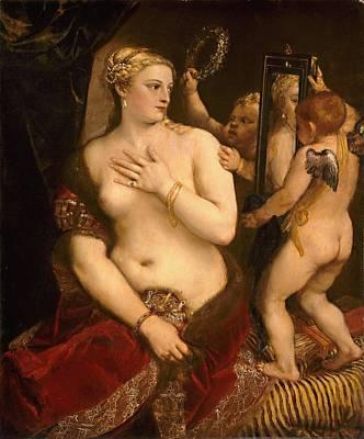 Venus With A Mirror Art Print