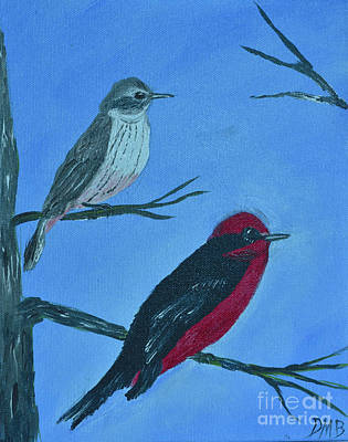 Painting - Vermilion Flycatcher by Donna Brown