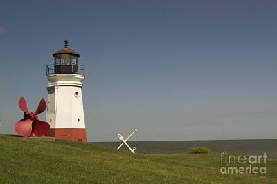 Vermilion Lighthouse - 1287 Art Print by Chuck Smith