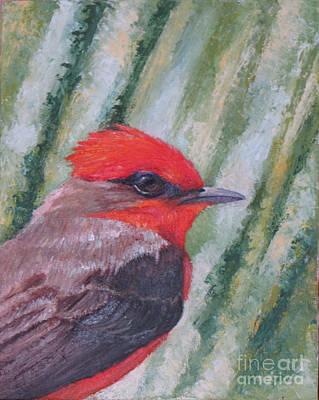 Vermillion Flycatcher Art Print by Judith Zur