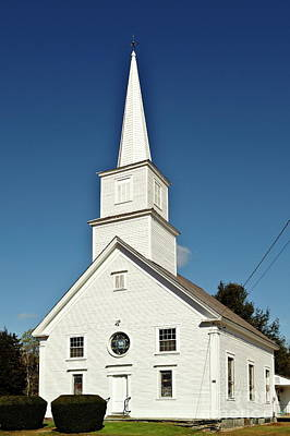 Andover Photograph - Vermont Church. by John Greim