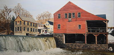 Painting - Vermont Mill Stream by Alan Mager