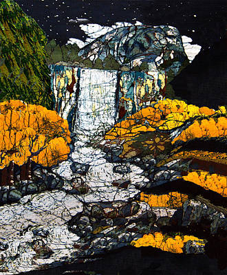 Santa Cruz Batik Artists Tapestry - Textile - Vernal Falls by Alexandra  Sanders