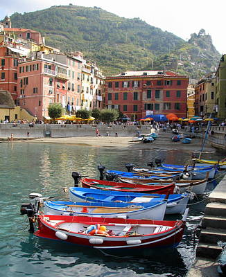 Photograph - Vernazza's Harbor by Carla Parris