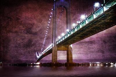 Busy Life Digital Art - Verrazano-narrows Bridge03 by Svetlana Sewell