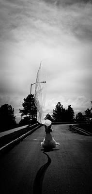 Vertical Cloth Wind  Art Print by Scott Sawyer