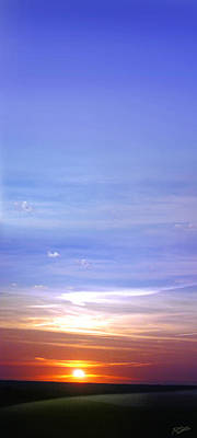 Art Print featuring the photograph Vertical Sunset by Rod Seel