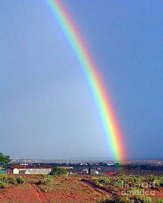 Very Bright Arizona Rainbow Art Print by Merton Allen