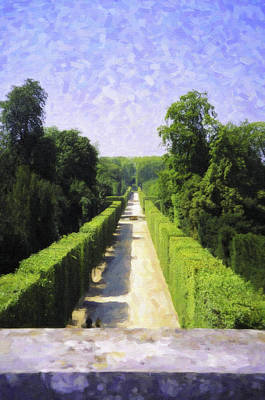 Digital Art - Very Long Hedge Versailles by Donna Munro