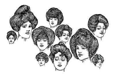 Very Pretty Lady Faces Art Print by Karl Addison