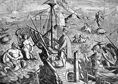 Of Mermaid Photograph - Vespucius Off The Americas Coast, Artwork by Cci Archives