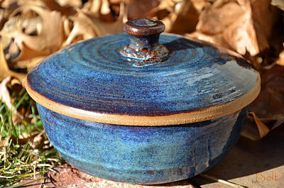 Glazed Pottery Ceramic Art - Vessel With Lid No.2 by Christine Belt