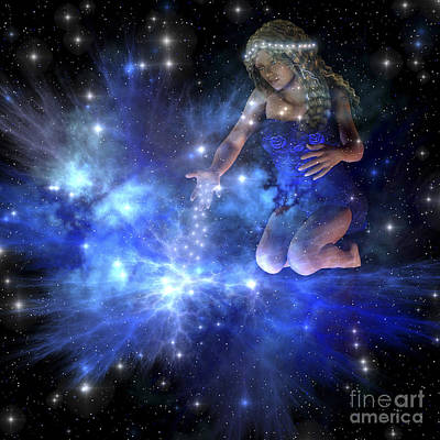 Enchanter Digital Art - Vesta Spreads Bright Stars Among by Corey Ford