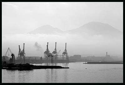 Photograph - Vesuvius In The Mist. by Terence Davis