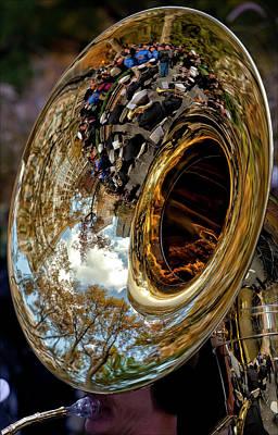 Sousaphone Wall Art - Photograph - Veterans Day Nyc 11 11 11 Navy Band Sousaphone by Robert Ullmann