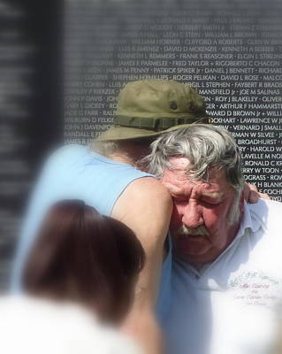 Photograph - Veterans Embrace by Cindy Wright