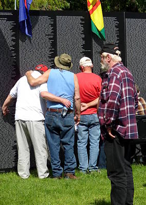 Photograph - Veterans Gather by Cindy Wright