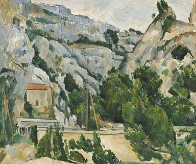 Marseille Painting - Viaduct At L'estaque by Paul Cezanne
