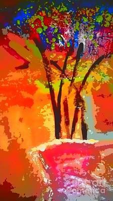 Digital Art - Vibrant Bouquet by Angela L Walker