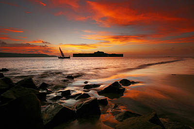 Dhow Photograph - Vibrant Sunset by Sydney Alvares