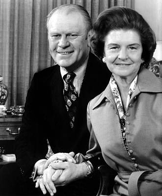 Vice President Gerald Ford And Wife Art Print