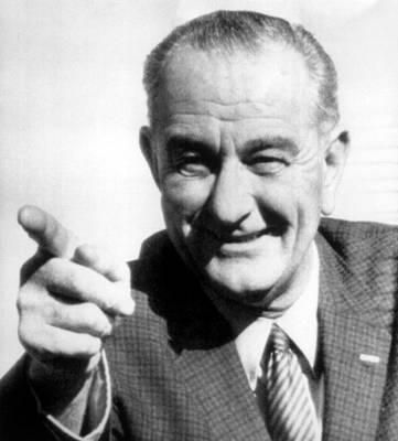 Lyndon Photograph - Vice President Lyndon B. Johnson by Everett