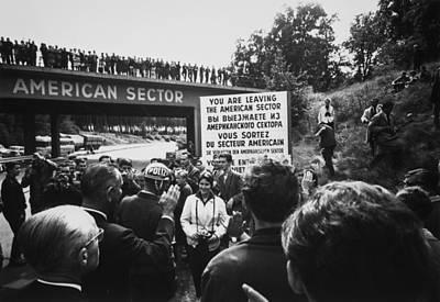 Vice President Lyndon Johnson On Right Print by Everett