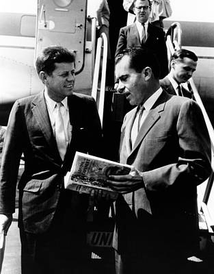 Vice-president Richard Nixon Right Art Print by Everett