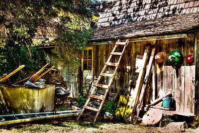 Photograph - Vic's Old Barn IIi by David Patterson