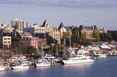 Photograph - Victoria B.c. Cityscape by MaryJane Armstrong