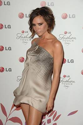 Victoria Beckham Wearing A Victoria Art Print by Everett